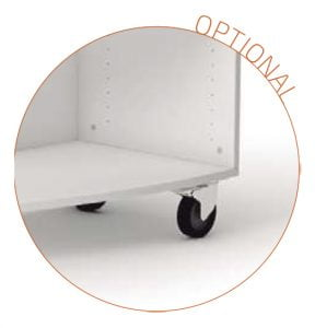 optional castor wheel with brake