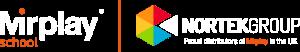 Mirplay UK and Nortek logos